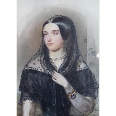 Aquarelle Biedermeier, 1851