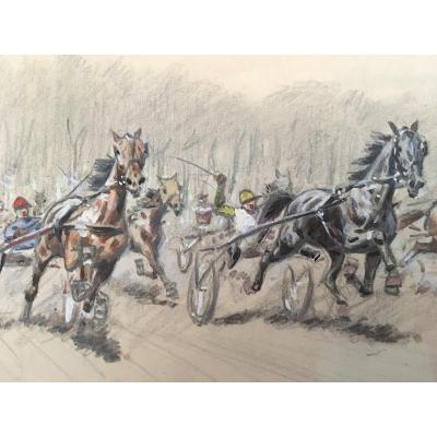 Aux Courses - Chevaux Et Jockeys, Paris