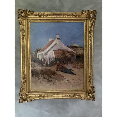 Evenepoel Henri 1872-1895 Suiveur De : Ecole Belge De La Fin Du XIXème