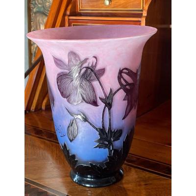 Large Vase By André Delatte Around 1920 In Triple Layers