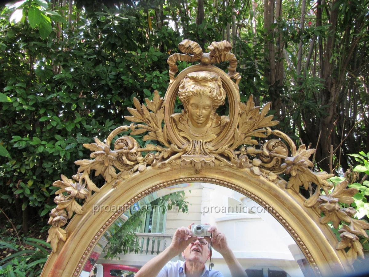 Miroir Ovale à Décor De Marquise Ep.19ème-photo-2