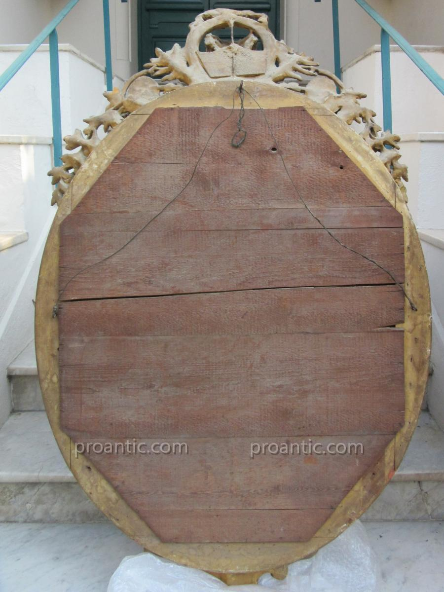 Miroir Ovale à Décor De Marquise Ep.19ème-photo-4