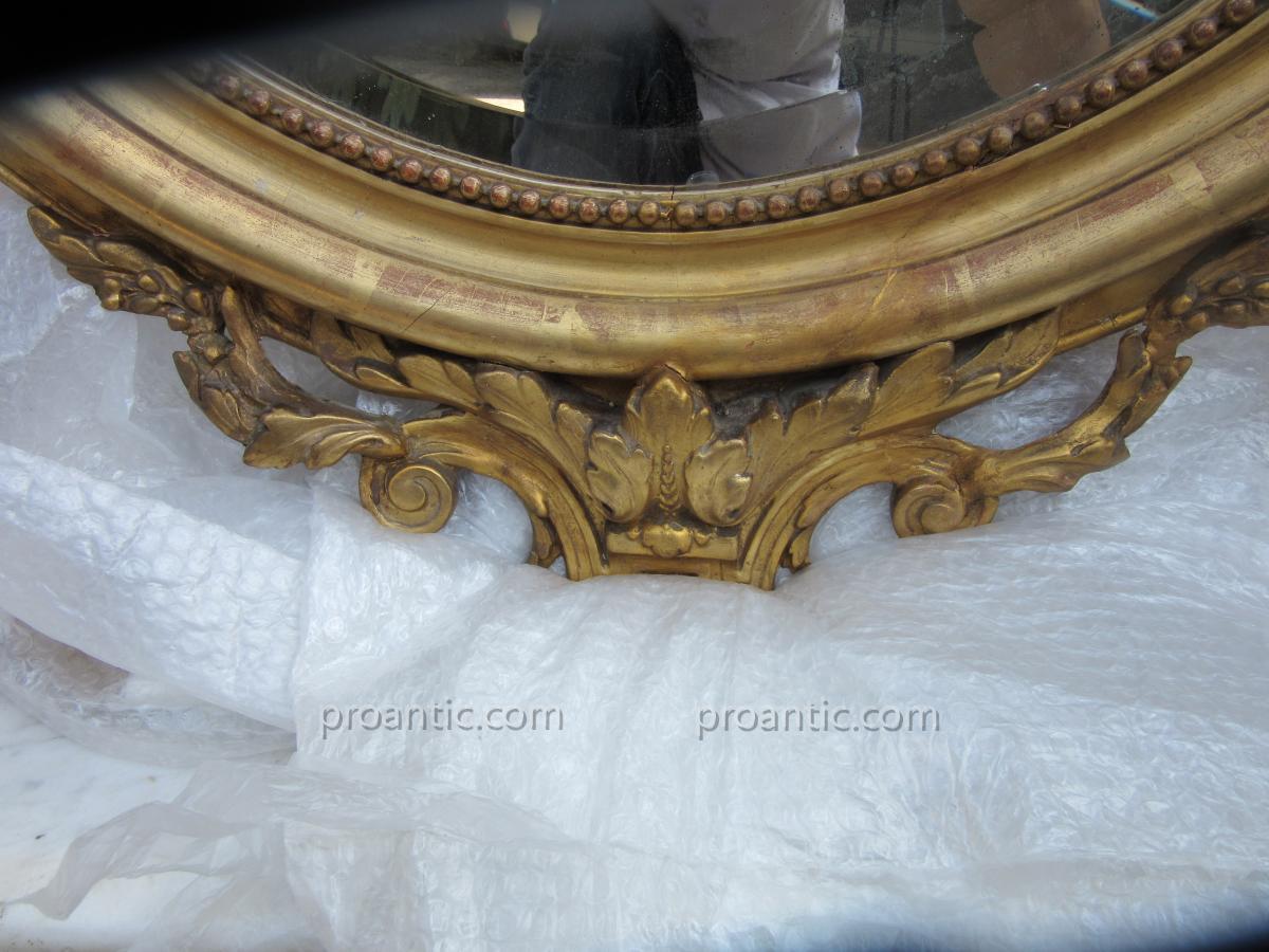 Miroir Ovale à Décor De Marquise Ep.19ème-photo-1