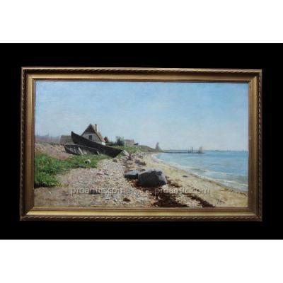 Huile Sur Toile Signée (peter Adolf) Persson 1862-1914 19ème