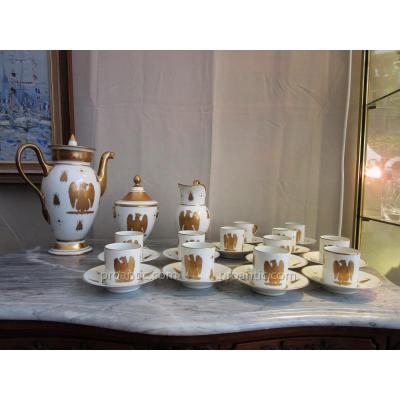 Service à Café En Porcelaine d'époque Empire