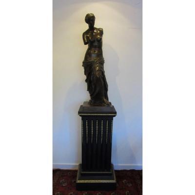 Statue En Bronze Venus De Milo Ep.19ème