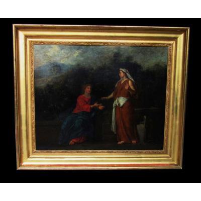 Peinture Huile Sur Toile Ep.18ème