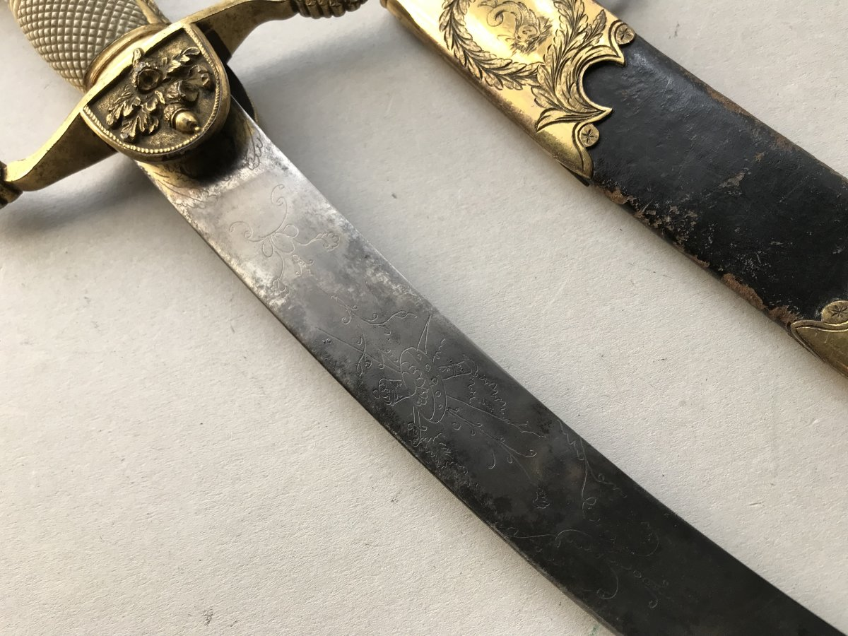 Large English Navy Dagger Of The Napoleon I Period-photo-3