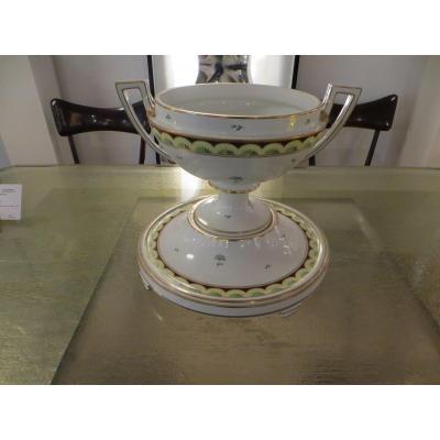 Coupe Porcelaine Viennoise Sur Socle