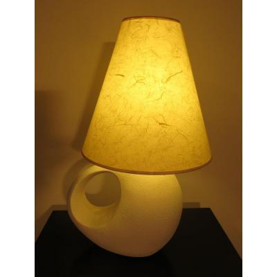 White Ceramic Lamp.