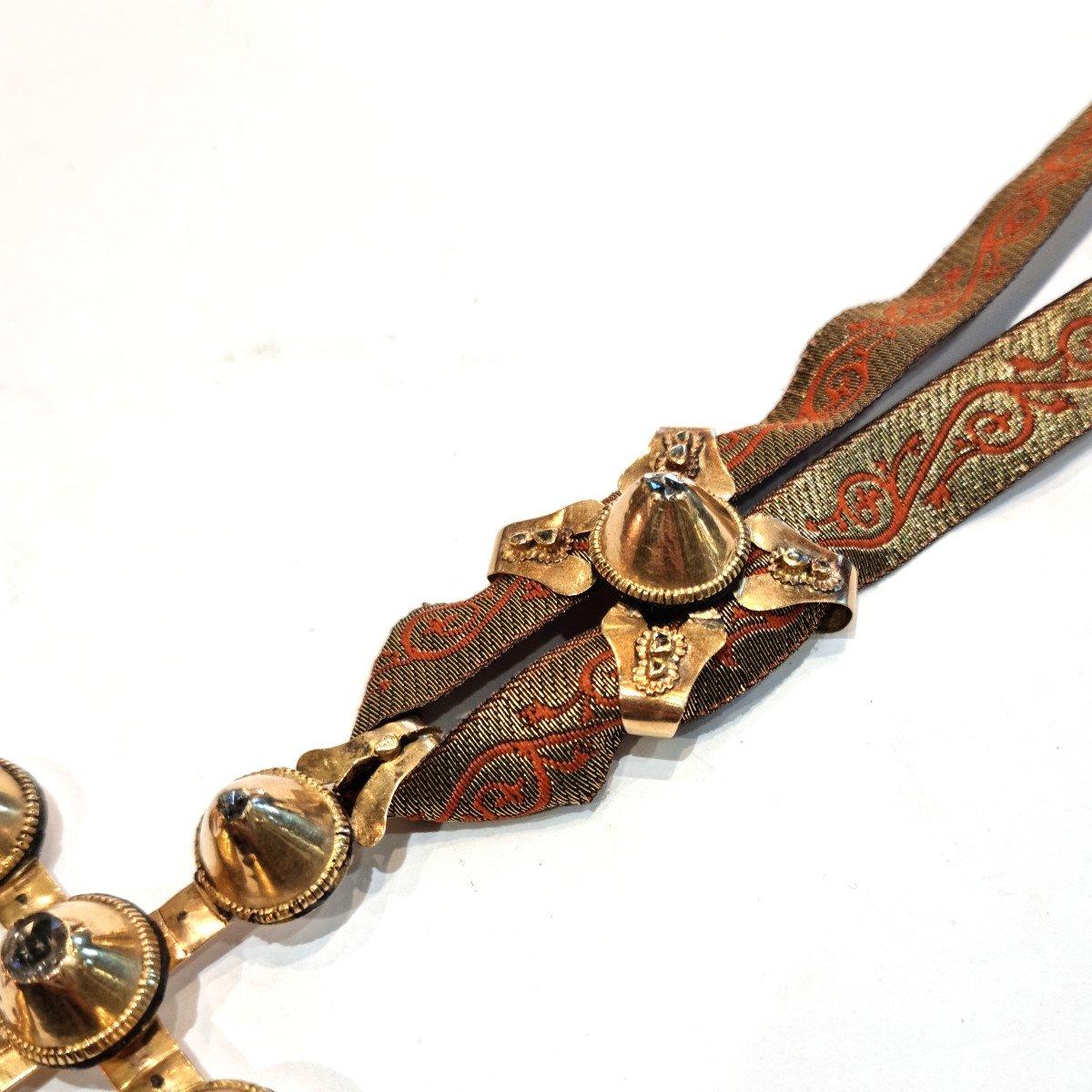 Croix Capucine, croix provençale en or et diamants, bijou régional France 19ème-photo-3