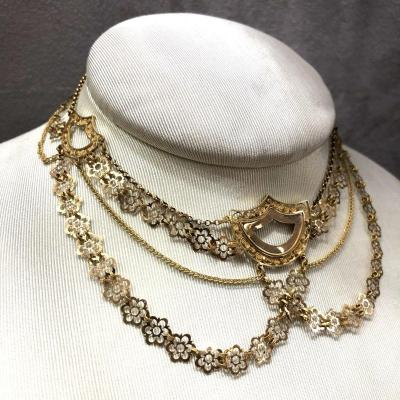Antique Georgian French Gold Collar Necklace, 19th Century