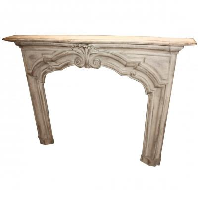 Wood Fireplace From The Eighteenth Century