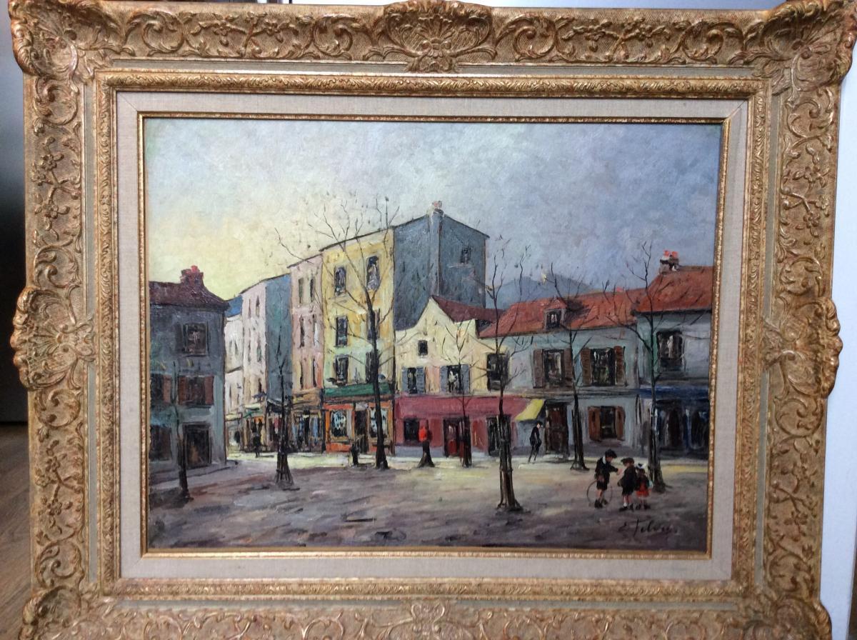 """Edouard FEBVRE  """" Place Du Tertre """""""