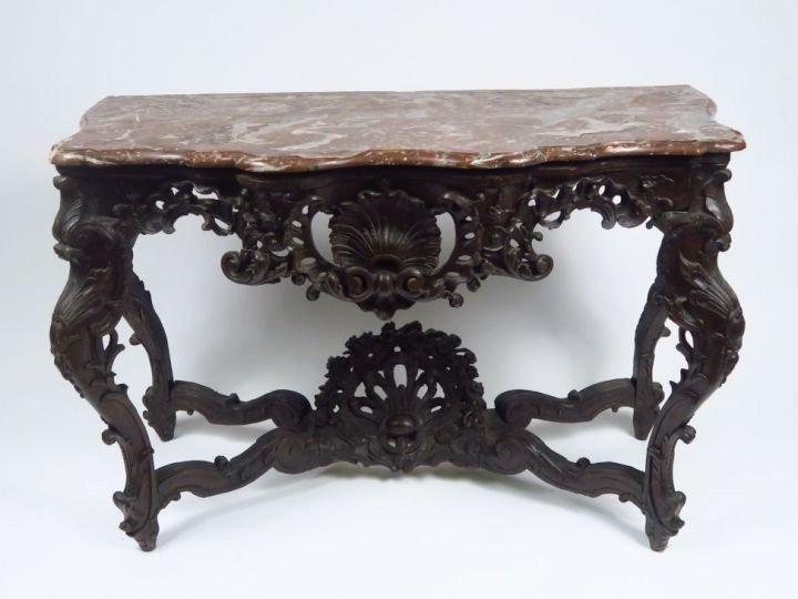 Table à Gibier En Chêne Mouluré Et Sculpté - XVIIIème