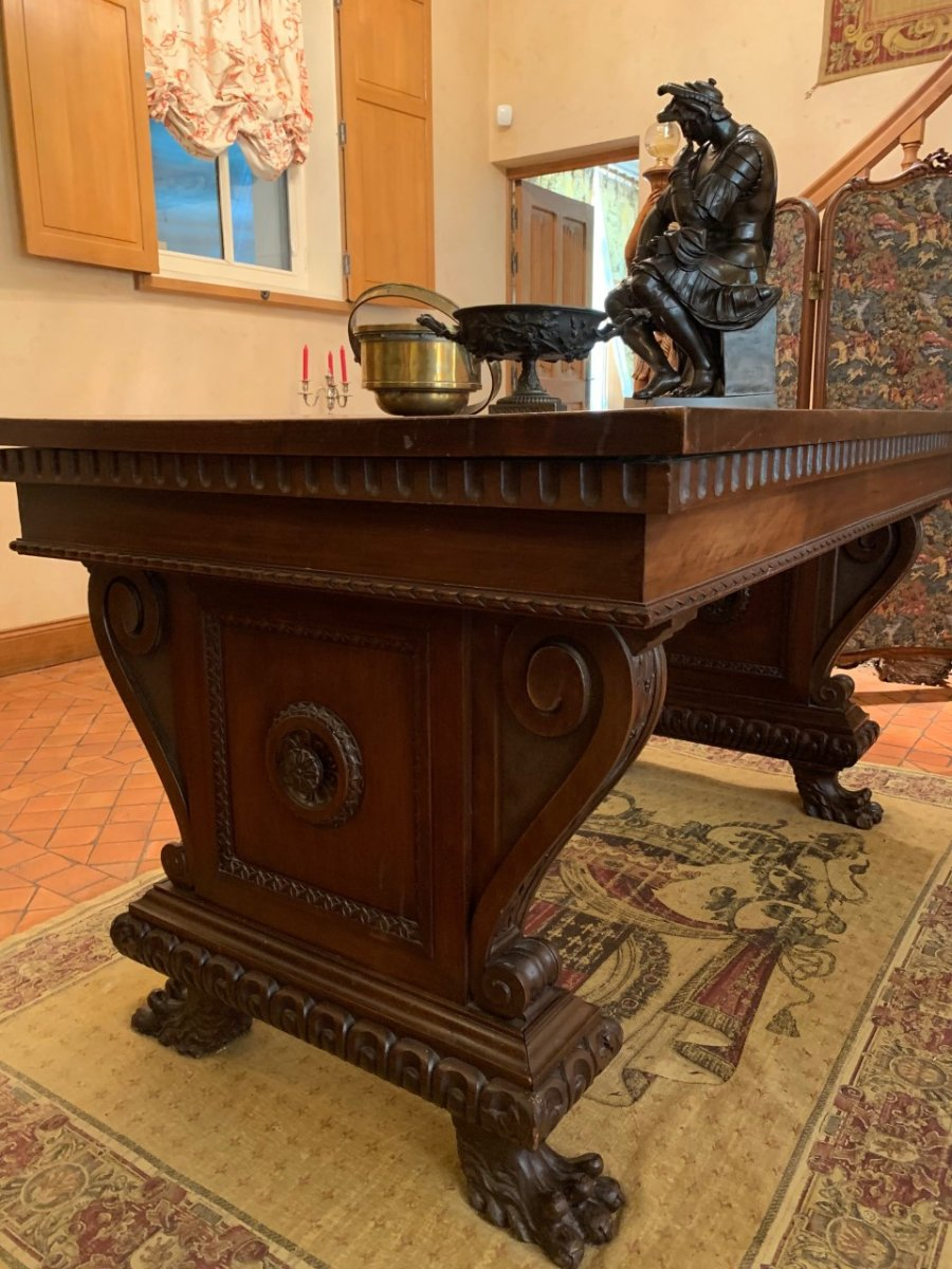 Middle Table In Walnut - Italy - 19th Time
