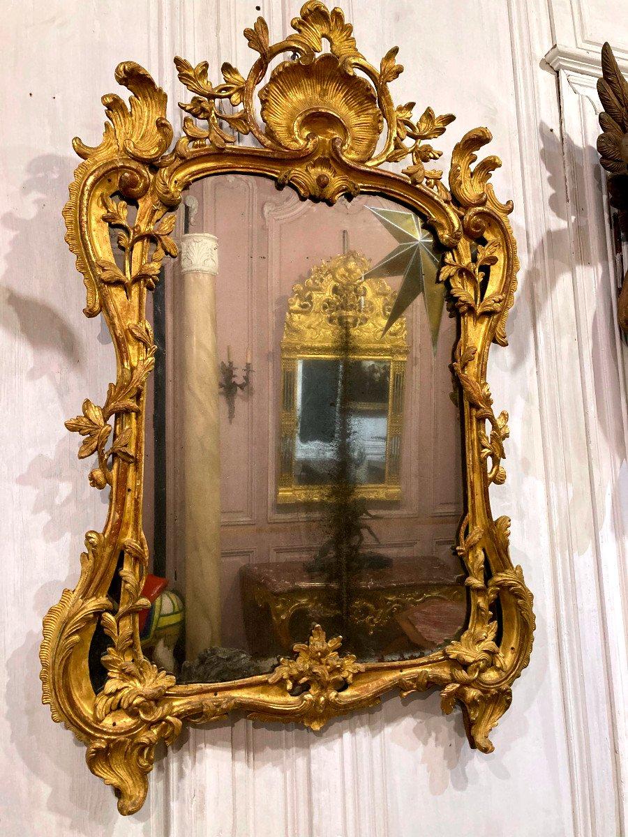 Miroir à Pare Closes En Bois Sculpté - Epoque XVIIIème