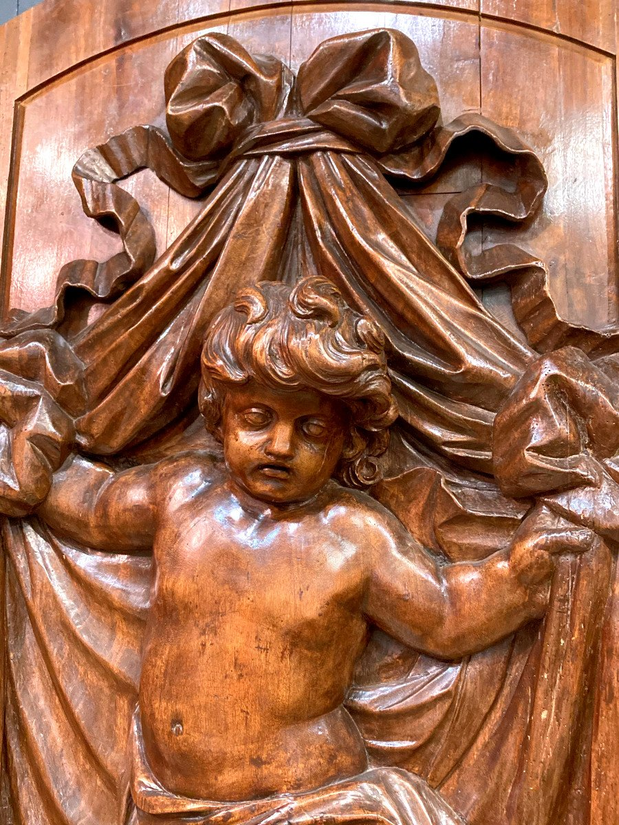 Important Panneau De Boiserie - XVIIIème-photo-1