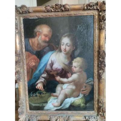 """Suiveur De Antonio Allegri Dit Le Correge """" Vierge à l'Enfant"""""""