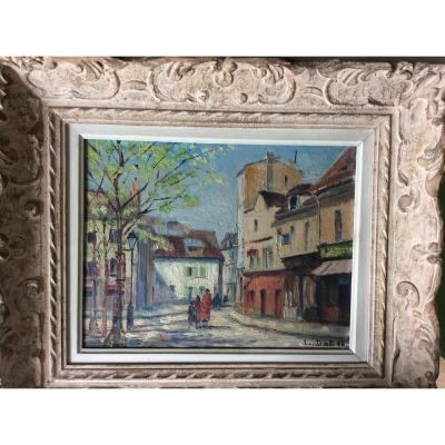"""Louis Dali  """" Place Du Tertre à Montmartre"""""""