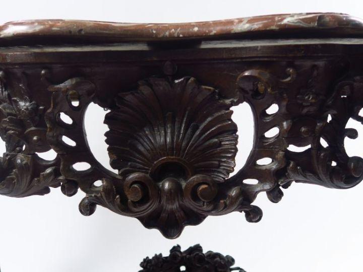 Table à Gibier En Chêne Mouluré Et Sculpté - XVIIIème-photo-2
