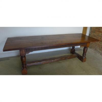 Monastery Table In Oak - Early XIXth