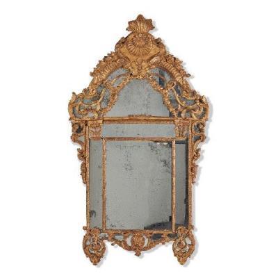Important Miroir à Pare Closes En Bois Sculpté - Epoque Régence