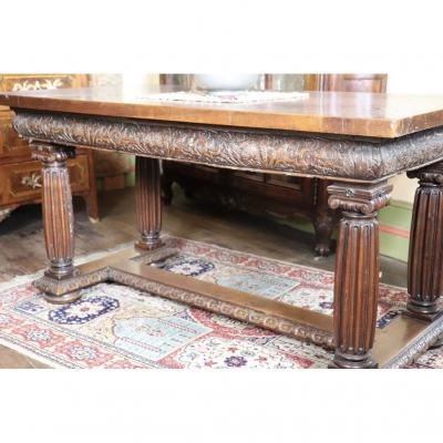 Monastery Table In Natural Wood - XVII