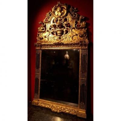 Important Mirror With Parcloses - Louis XVI Period