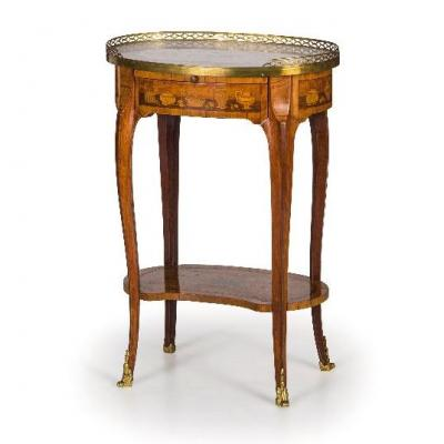 Table De Salon En Bois De Placage 18eme