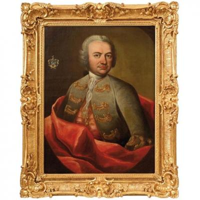 Portrait Of A Quality Man - Louis XV Period