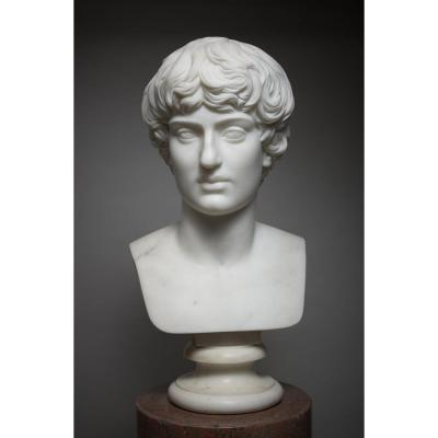 White Marble Bust - Neoclassical Period.