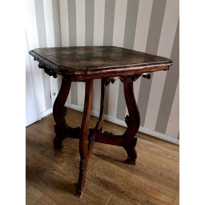 Table In Ronceux Walnut - XVIIIth