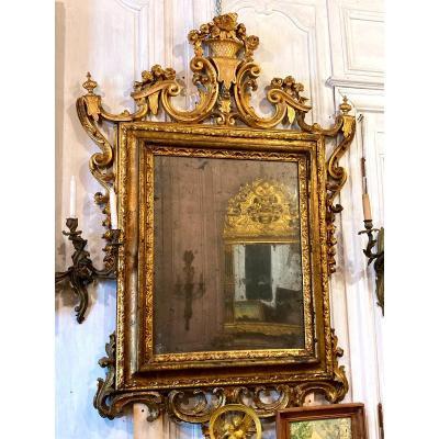 Important Miroir Vénitien - XVIIIème
