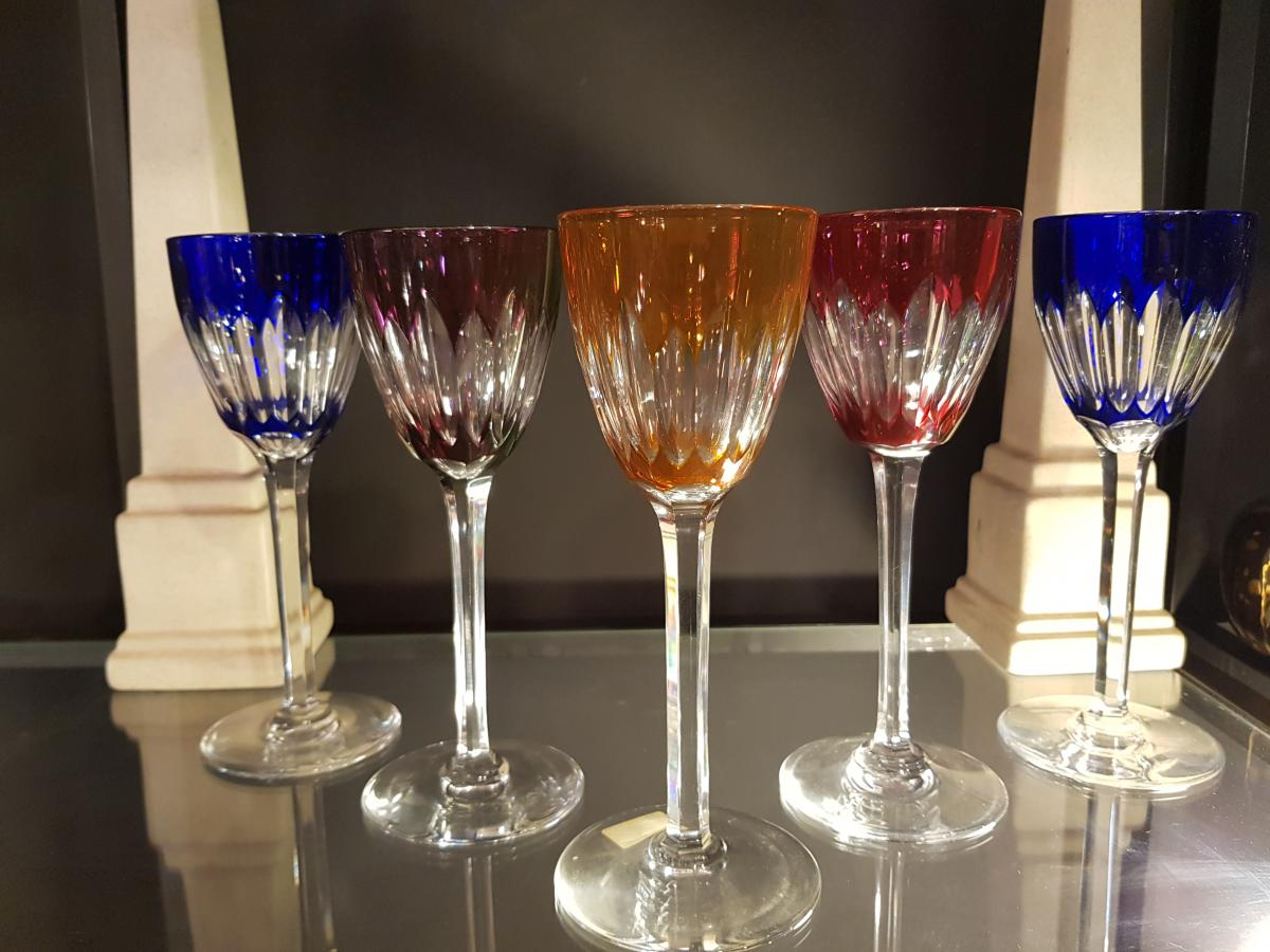 Cassino Baccarat Crystal Color Glasses