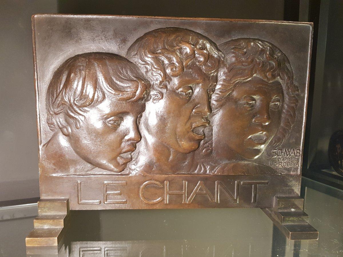 Bronze Bas Relief The Art Deco Song