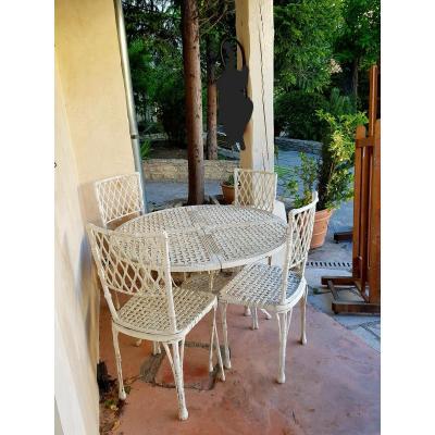 Garden Furniture Iron Bamboo Decor
