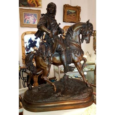 Great Statue Barye Orientalist The Arabian Rider