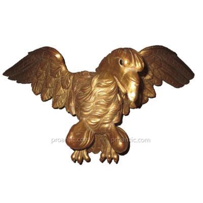 Aigle En Bois Sculpté Et Doré Style Empire  XIXème