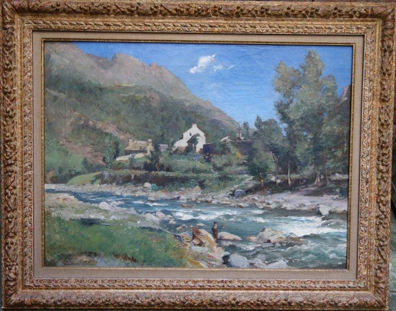 """""""Gave de Pau a GEDRE""""en Bigorre par Gustave COLIN vers 1880"""