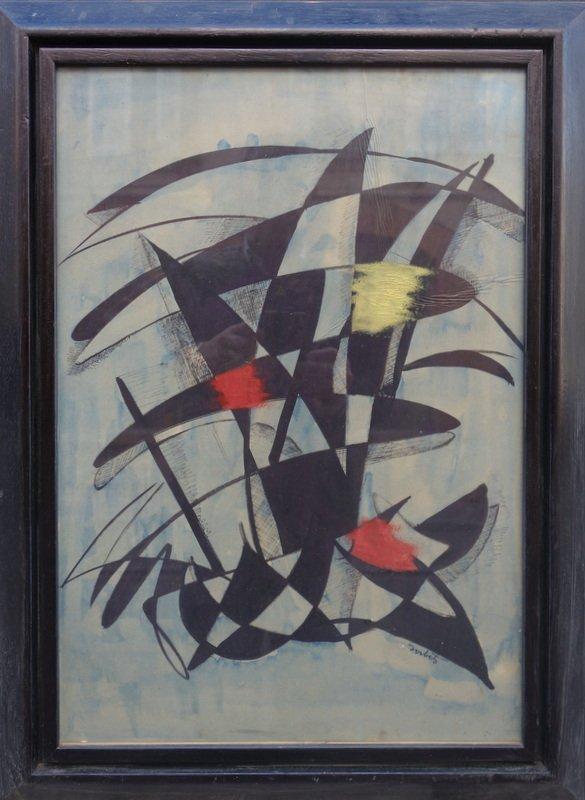 """ABSTRACTION"" par André SORBETS vers 1950/60"