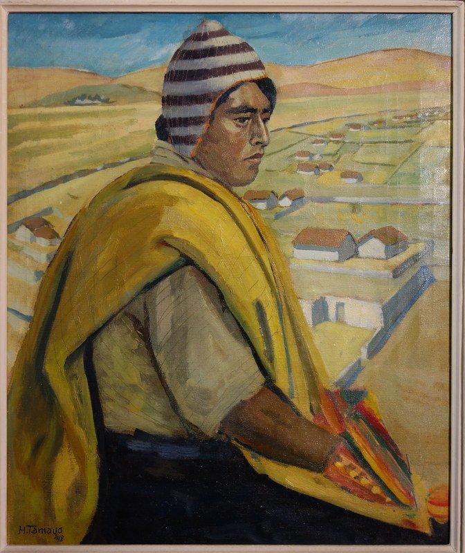 """Profundidad del Altiplano"" BOLIVIE ..H.TAMAYO..1948"