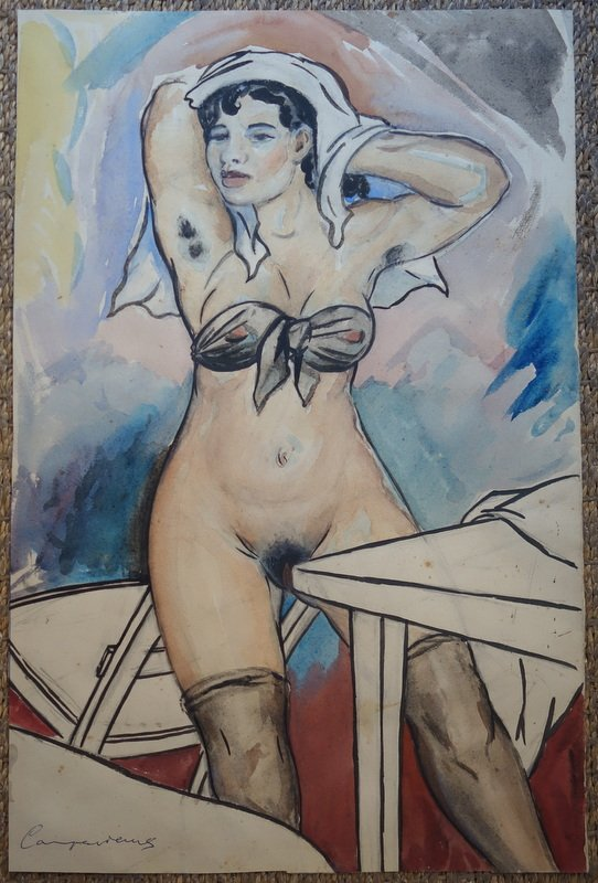 """nude Canaille"" By Manuel Campsvicens Circa 1950"