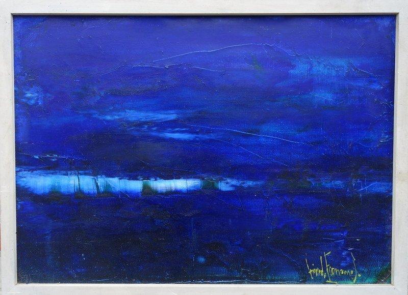 """""""Horizon ou  Mer"""" par Gerard ECONOMOS vers 1970/80"""