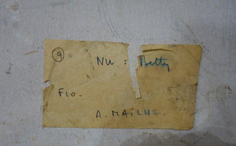 """""""Nu de Femme """" par André MAILHES vers 1950/60-photo-2"""