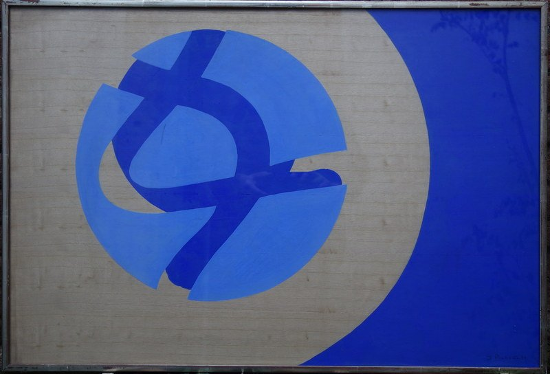 """blue Circle Composition"" By James Pichette ... 1972"