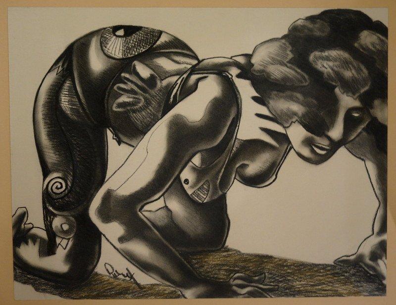 """""""la Tatouée"""" By Jacques Roux Around 1990/95"""