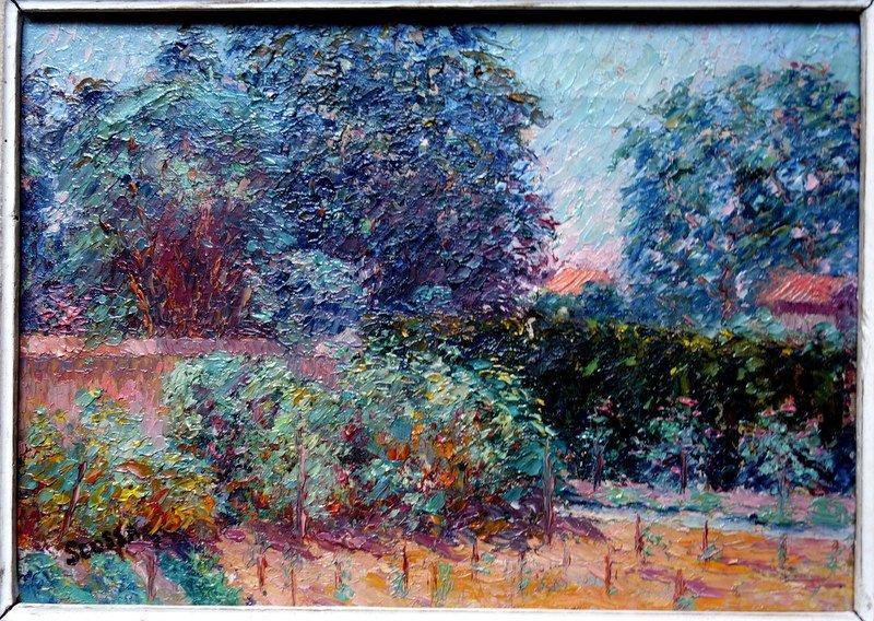 """Jardin Potager"" par Ferdinand SCOSSA vers 1920-photo-2"