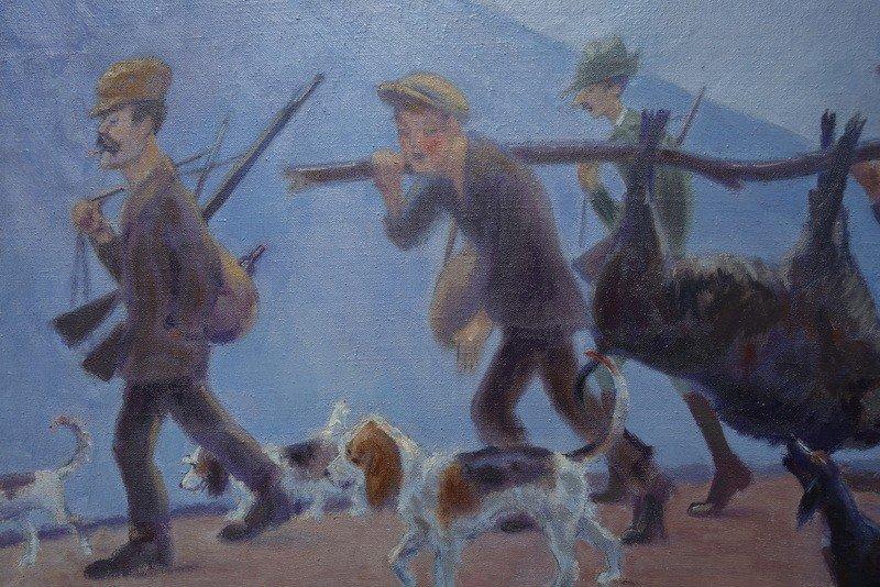 """""""Retour de Battue en Provence"""" par Alfred ANDRIEUX ...1922-photo-3"""