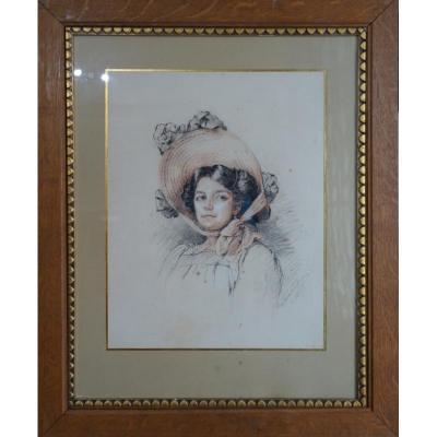 """""""Jeune Beauté """"par Marguerite L.BEVER de La QUINTINIE 1909"""